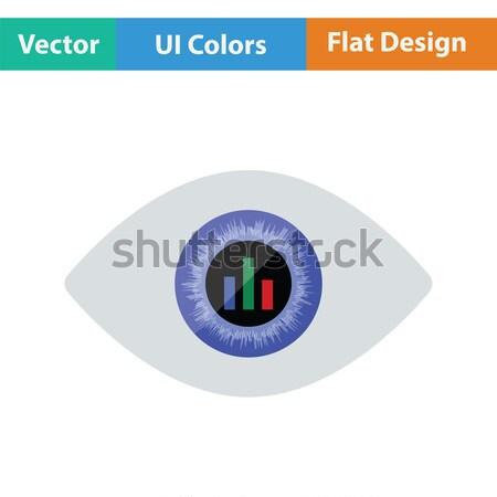 Oeil marché graphique à l'intérieur icône Photo stock © angelp