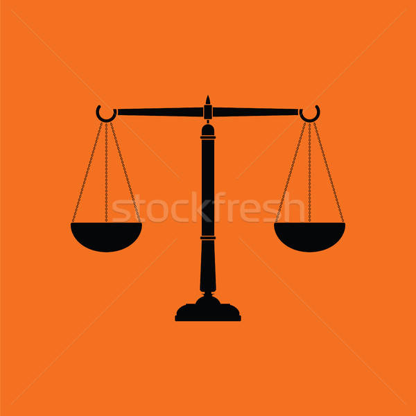 Justice scale icon Stock photo © angelp