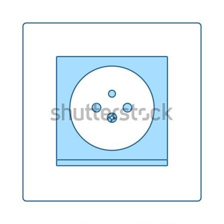 Elettriche presa icona bianco nero tecnologia segno Foto d'archivio © angelp