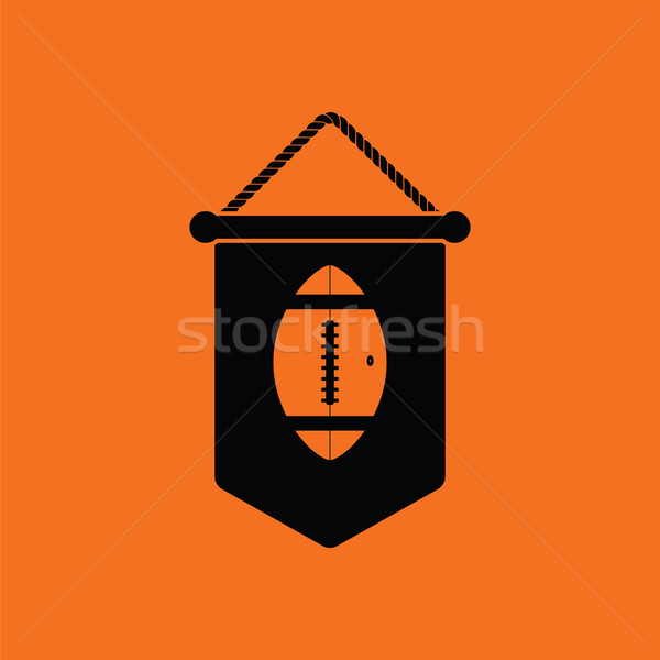 American football pennant icon Stock photo © angelp
