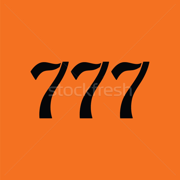 777 icon Stock photo © angelp