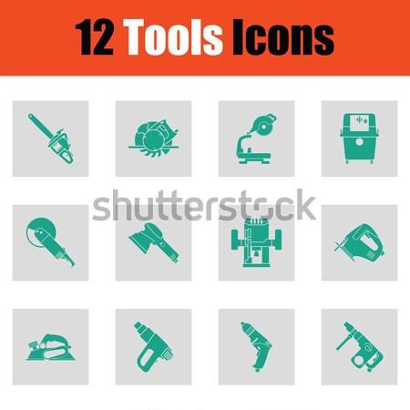 Set of tools icons Stock photo © angelp