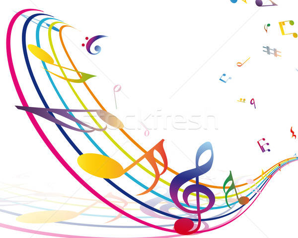 Musical notes de musique personnel transparence eps10 disco Photo stock © angelp