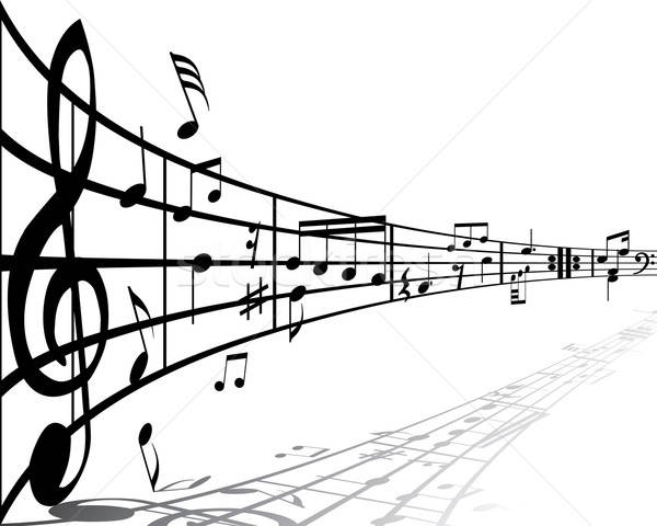 Muzică diferit notiţe alb proiect fundal Imagine de stoc © angelp