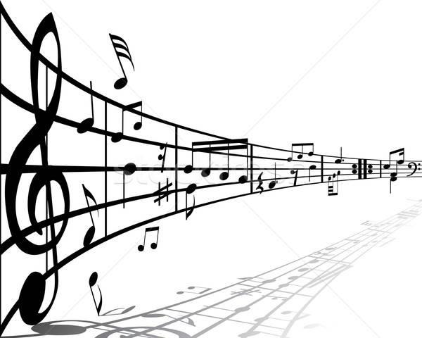 Muziek verschillend merkt witte ontwerp achtergrond Stockfoto © angelp