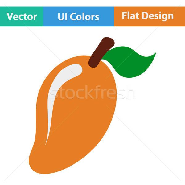Flat design icon of Mango Stock photo © angelp