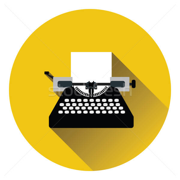 Typewriter icon Stock photo © angelp