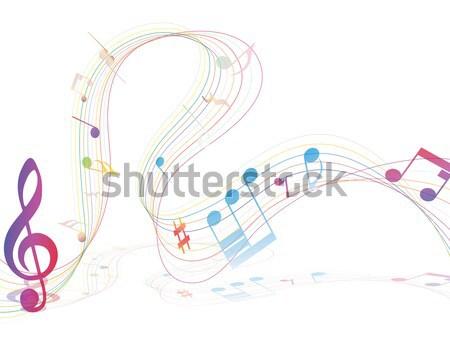 Musicale design elementi musica personale Foto d'archivio © angelp