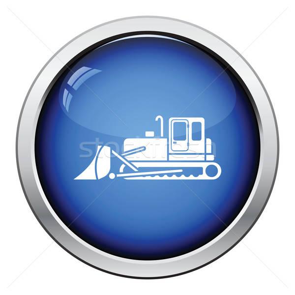икона строительство бульдозер кнопки дизайна Сток-фото © angelp