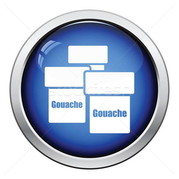 Gouache can icon Stock photo © angelp