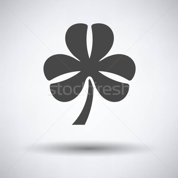 Shamrock ikon szürke virág absztrakt természet Stock fotó © angelp