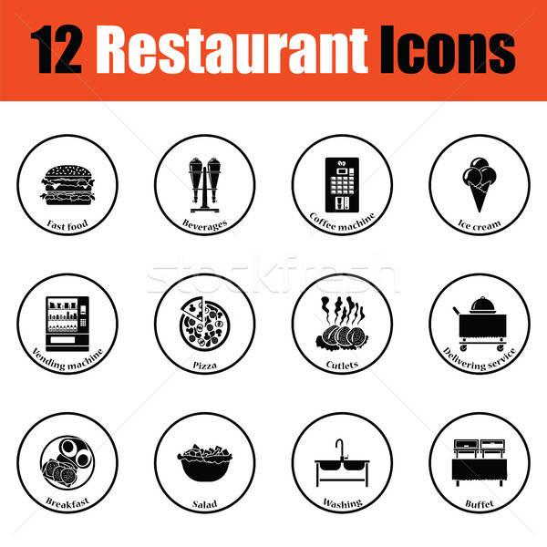 ресторан тонкий круга дизайна таблице Сток-фото © angelp