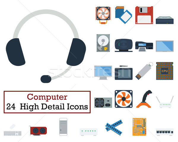 Set of 24 Computer Icons Stock photo © angelp