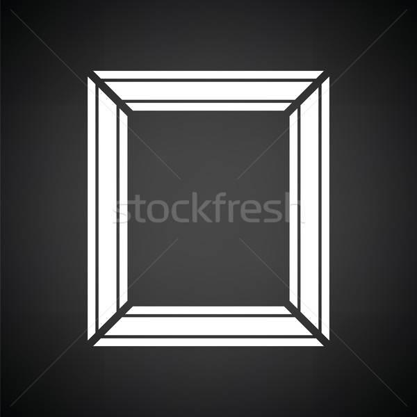 фоторамка икона черно белые кадр пространстве портрет Сток-фото © angelp