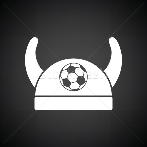 Football fans horned hat icon Stock photo © angelp