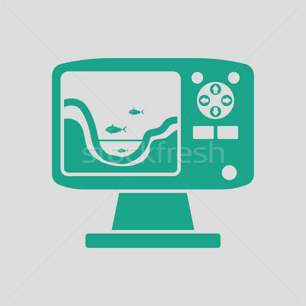 Icon of echo sounder   Stock photo © angelp