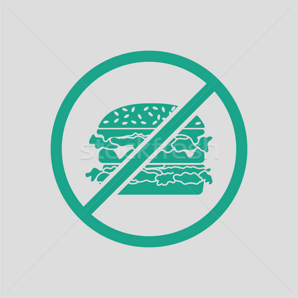 Prohibited hamburger icon Stock photo © angelp