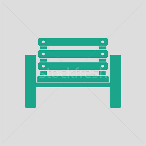 Stock photo: Tennis player bench icon
