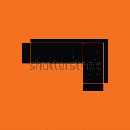 コーナー ソファ アイコン グレー ビジネス ファッション ストックフォト © angelp
