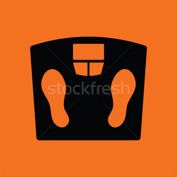 Сток-фото: полу · Весы · икона · оранжевый · черный · спорт