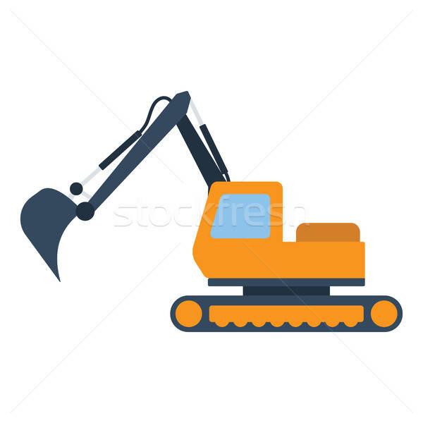 Icono construcción excavadora color diseno trabajo Foto stock © angelp