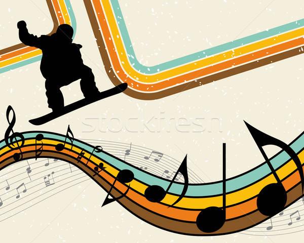 сноуборд спорт спортсмена вечеринка дизайна фон Сток-фото © angelp