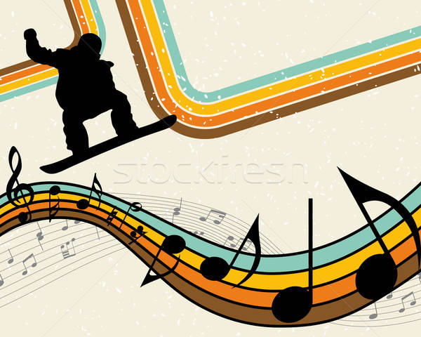 Snowboard sport atleet partij ontwerp achtergrond Stockfoto © angelp