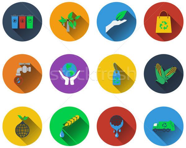 écologique icônes design eps Photo stock © angelp
