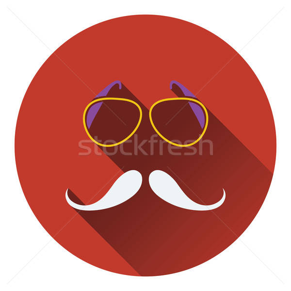 Glasses and mustache icon Stock photo © angelp