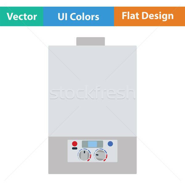 Gas boiler icon. Flat color design. Vector illustration. Stock photo © angelp