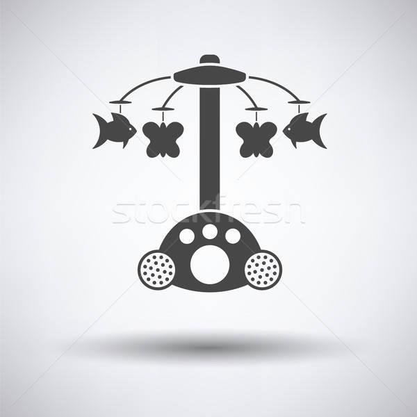 Baby carrousel icon grijs gelukkig kind Stockfoto © angelp
