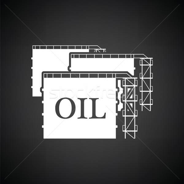 Olio serbatoio stoccaggio icona bianco nero business Foto d'archivio © angelp