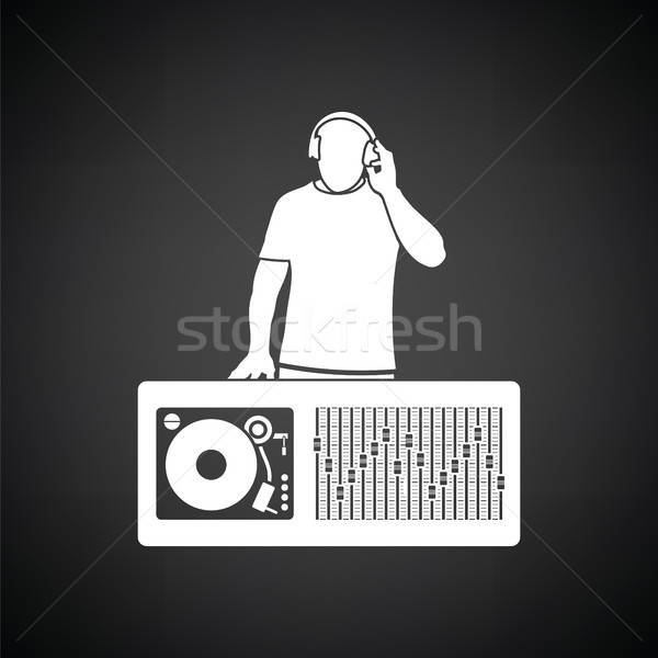 DJ icon Stock photo © angelp