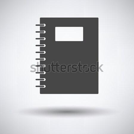 練習帳 ペン アイコン グレー 学校 学生 ストックフォト © angelp