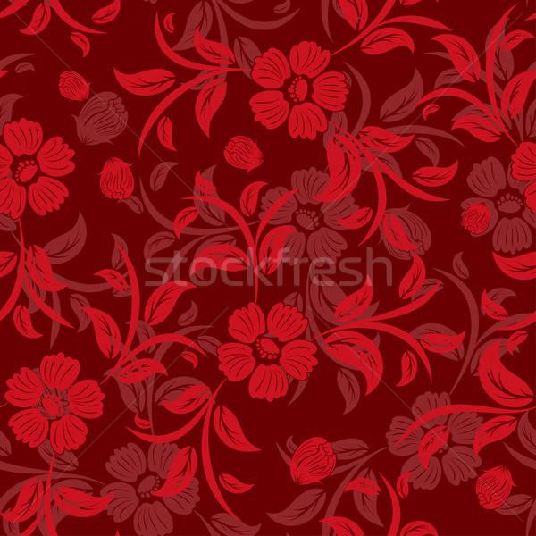 Zdjęcia stock: Bezszwowy · kwiatowy · wektora · łatwe