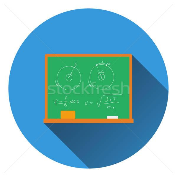 Design icône classe tableau noir ui couleurs Photo stock © angelp