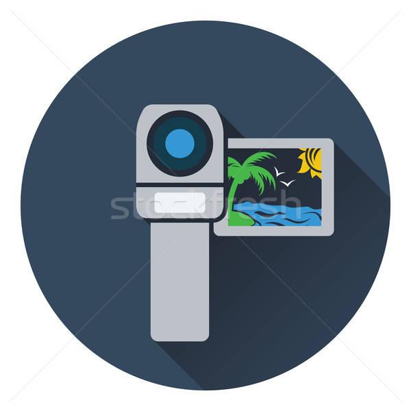 Caméra vidéo icône design technologie cadre signe Photo stock © angelp