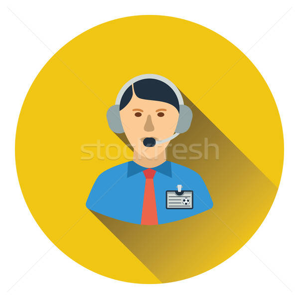Icon of football commentator Stock photo © angelp