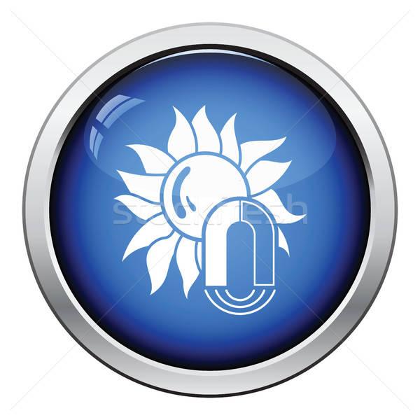 Magnetico tempesta icona lucido pulsante design Foto d'archivio © angelp