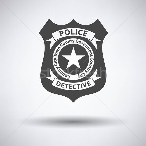 Police badge icon Stock photo © angelp