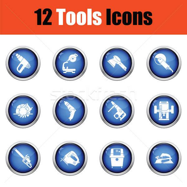 Stockfoto: Tools · glanzend · knop · ontwerp · pistool