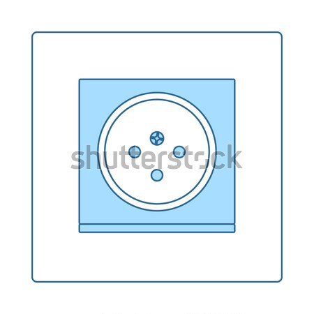 France electrical socket icon Stock photo © angelp