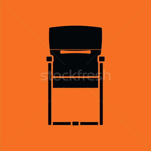Gast bureaustoel icon oranje zwarte business Stockfoto © angelp