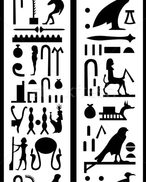 seamless hieroglyphs Stock photo © angelp