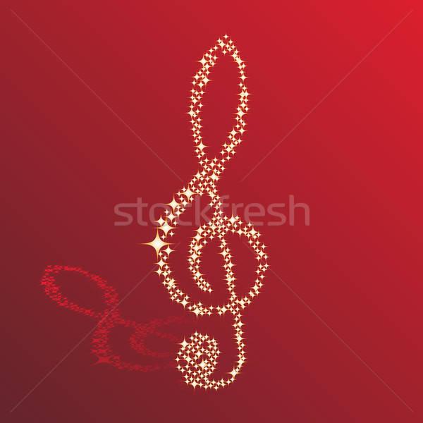 Note musicali vettore design sfondo discoteca stelle Foto d'archivio © angelp