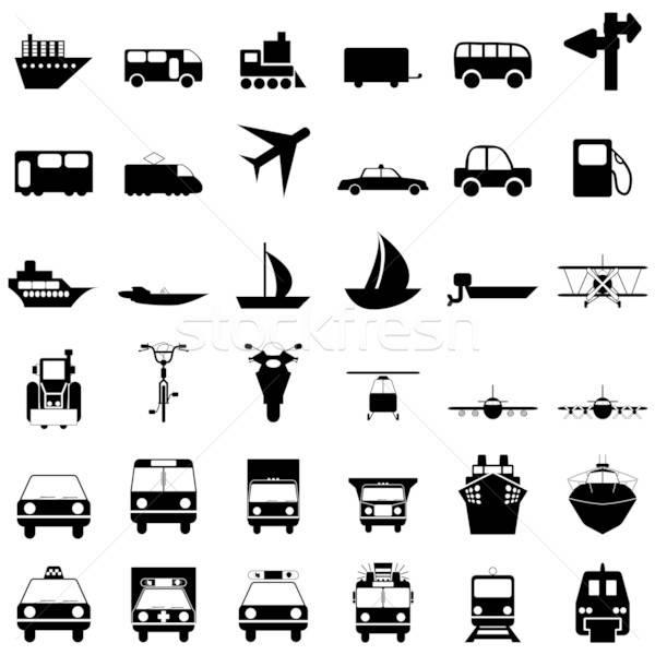 Transporti set diverso vettore icone web Foto d'archivio © angelp