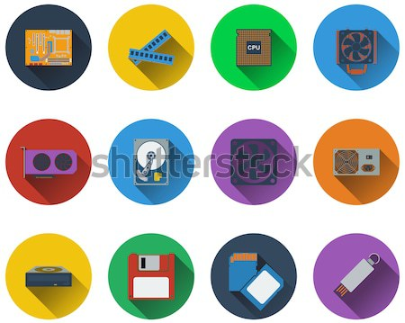 Set of electrical work tools icons Stock photo © angelp