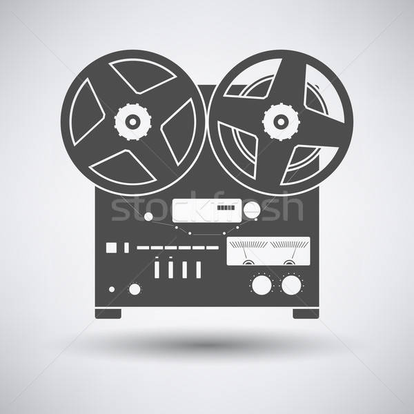 Stock photo: Reel tape recorder icon