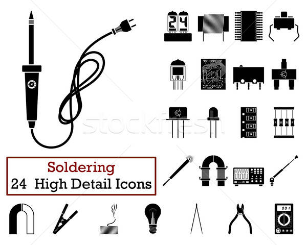 Set of 24 Soldering Icons  Stock photo © angelp