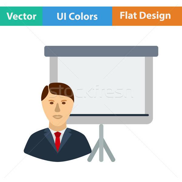 дизайна икона тренер бизнесмен служба веб Сток-фото © angelp